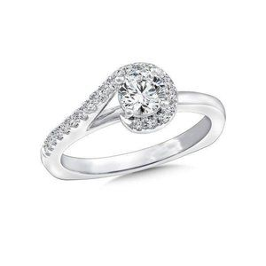 2.60 carats round cut diamonds engagement ring new